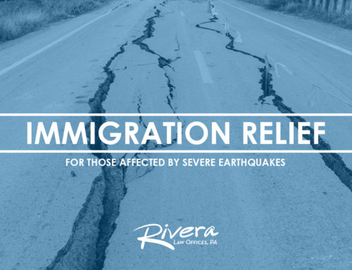 Immigration Relief for Those Affected by Severe Earthquakes