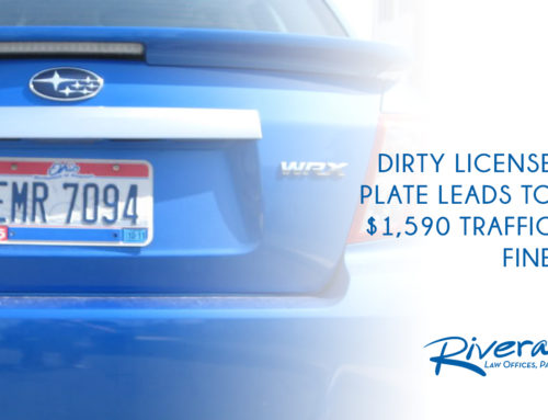 Dirty License Plate Leads to $1,590 Traffic Fine